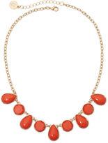 Liz Claiborne Gold-Tone Orange Stone Collar Necklace