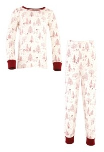 Touched by Nature Big Girls and Boys Winter Woodland Tight-Fit Pajama Set, Pack of 2