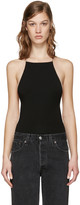 Alexander Wang Black Low Back Bodysuit