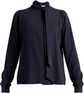 Tomas Maier Neck-tie silk crepe de Chine blouse