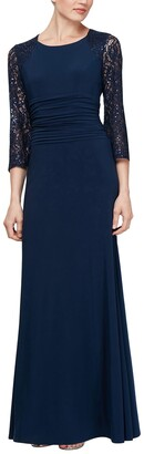 Slny Embellished Sleeve Maxi Dress