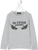 DSQUARED2 print long sleeved T-shirt - kids - Cotton - 4 yrs