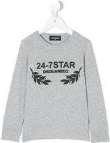 DSQUARED2 print long sleeved T-shirt