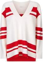 Sandro V-Neck Sweater, Beige, 2