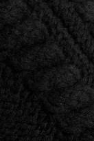 Balmain Cable-knit wool skirt