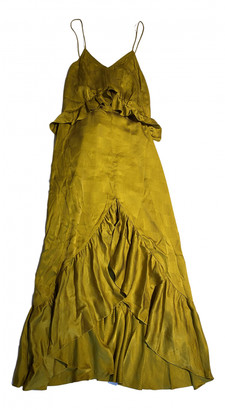 soeur Yellow Silk Dresses