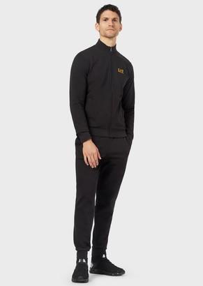 Emporio Armani Cotton Tracksuit With Full-Zip Sweatshirt
