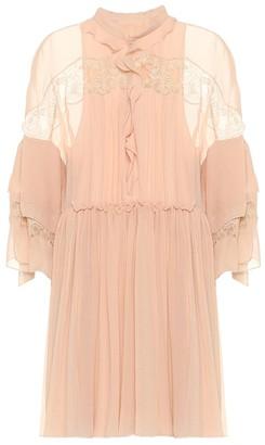 Chloé Silk-georgette minidress