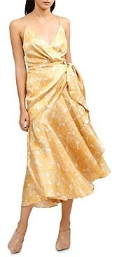 Acler Dana Floral Print Wrap Dress