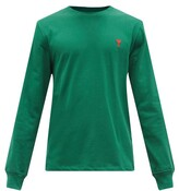 Thumbnail for your product : Ami De Cur Logo-embroidered Cotton-jersey T-shirt - Green