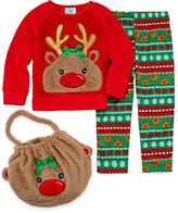 Asstd National Brand Girls Pant Pajama Set-Preschool