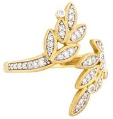 Jude Frances 18K Diamond Sonoma Leaf Bypass Ring
