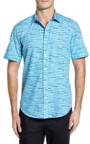 Bugatchi Men's Print Shaped Fit Sport Shirt