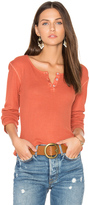 Monrow Long Sleeve Henley Tee