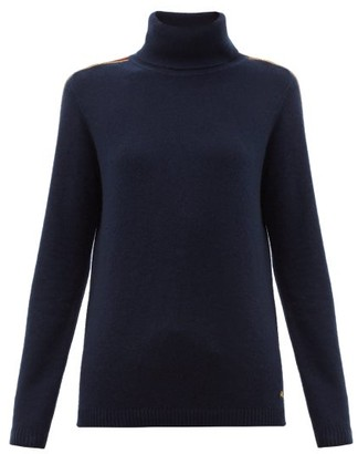 Bella Freud Suzuka Cashmere-blend Roll Neck Sweater - Womens - Navy