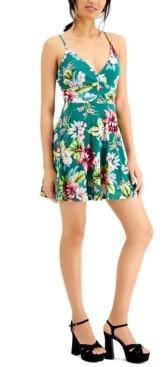 Bar III Floral-Print Cami Mini Dress, Created for Macy's