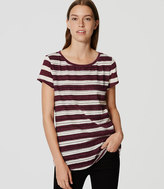 LOFT Embroidered Stripe Tee