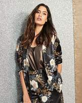 Fashion World Floral Print Satin Blazer