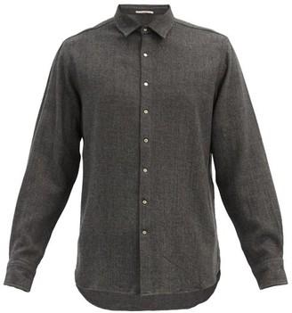 Péro Pero - Hand-woven Wool-flannel Shirt - Dark Grey