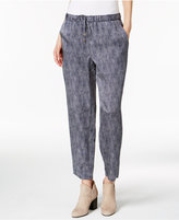 Eileen Fisher Silk-Blend Drawstring Ankle Pants, Regular & Petite