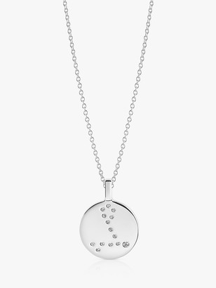 Sif Jakobs Jewellery Zodiaco Pisces Cubic Zirconia Round Pendant Necklace