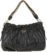 PRADA Gathered Top Chain Bag - Black