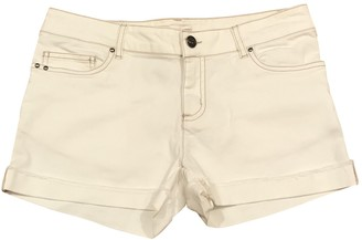 Bonpoint White Cotton - elasthane Shorts for Women