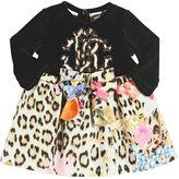 Roberto Cavalli Printed Cotton Jersey & Chenille Dress