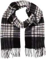 Amicale Wool Plaid Scarf