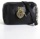 Juicy Couture Black Leather Golden Chain Hardware Clutch Handbag