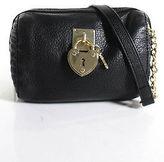 Juicy Couture Black Leather Golden Chain Hardware Clutch Handbag