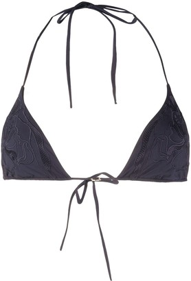 La Perla Embroidered Triangle Bikini Top