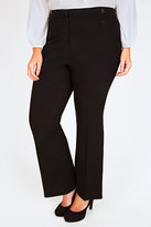 Yours Clothing Black Boot Cut Trouser With Gold Trim