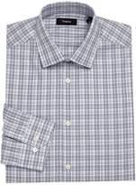 Theory Men's Dover Plaid Dress Shirt