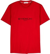 Givenchy Red Logo-print Cotton T-shirt