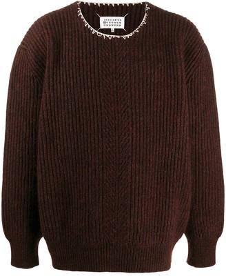 Maison Margiela Stitch-Detail Rib-Knit Jumper