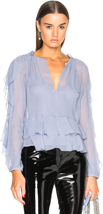 Nicholas Gathered Ruffle Blouse