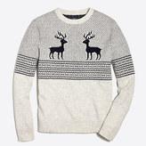 J.Crew Factory Reindeer Fair Isle crewneck sweater