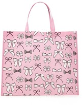 Forever 21 FOREVER 21+ Bow Print Eco Shopper Tote