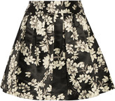 Alice + Olivia Fizer printed satin mini skirt