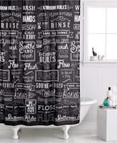 Avanti Chalk It Up Shower Curtain Bedding