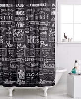 Avanti Chalk It Up Shower Curtain