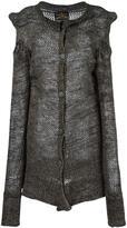Vivienne Westwood asymmetric superlong sleeves cardigan - women - Virgin Wool/Cotton/Acrylic - S