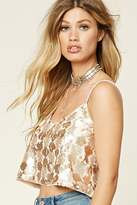 Forever 21 FOREVER 21+ Sequin Cropped Cami