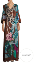Temperley London Catalinia Print Wrapped Dress