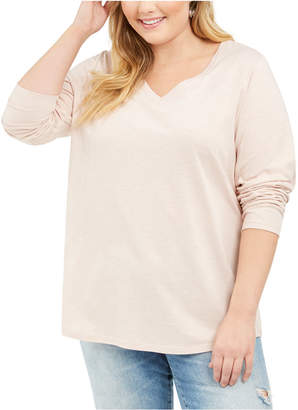 Style&Co. Style & Co Plus Size V-Neck Top