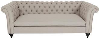 Kim Salmela Hawkins Chesterfield Sofa - Greige Crypton frame, espresso; upholstery, greige