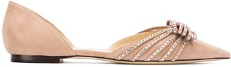 Jimmy Choo Kaitence crystal-embellished ballerina shoes