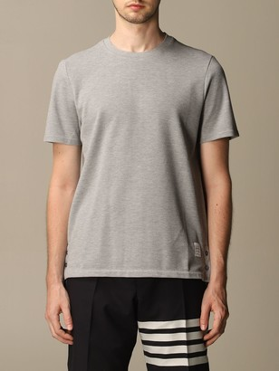 Thom Browne T-shirt Cotton T-shirt With Striped Band