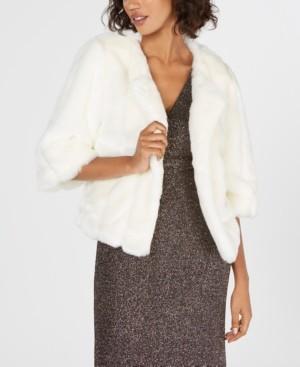Calvin Klein Faux-Fur Shrug